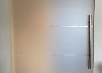 Porte Intérieure verre opaque liseret clair pivotante - BASCHARAGE - LUXEMBOURG