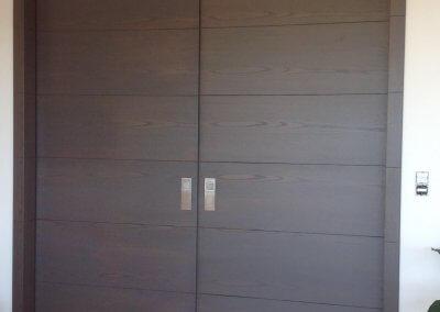 Porte intérieure double à galandage bois - GOETZENBRUCK