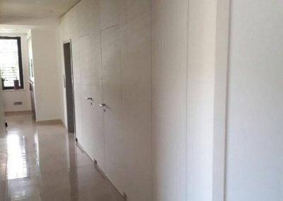 Mur filant porte intérieure et placard intègre décor stratifié abet - INGELDORF - LUXEMBOURG