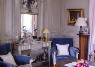 Boiserie style Louis XVI en laque console et trumeau - MOISSONNIER - DRULINGEN