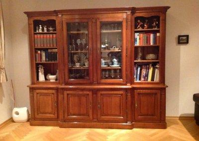 Bibliothèque Louis XVI quatres portes merisier ou autre bois