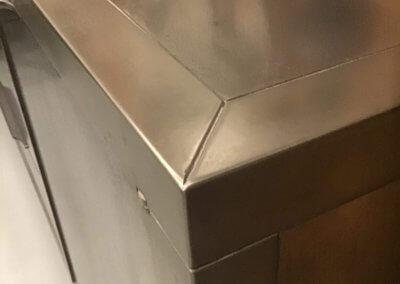 Procédé innovant de métallisation du bois application de poudre de métal fer/ inox/bronze /laiton fer rouillé