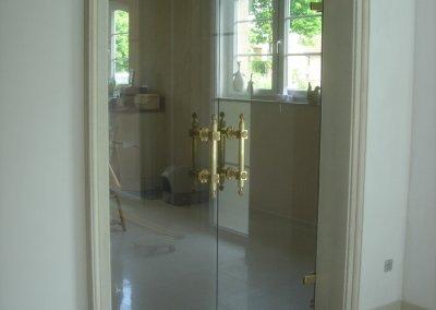 Double porte battante en verre avec bâtons de Maréchal